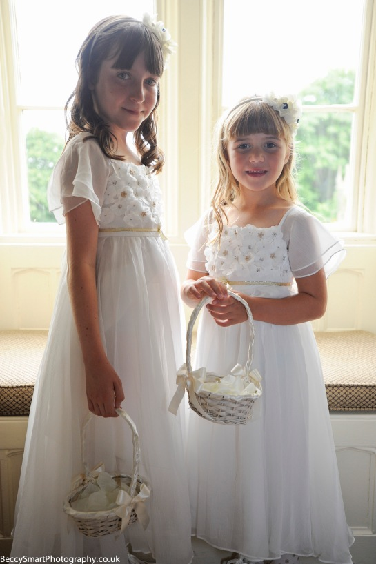 happy pretty flower girls