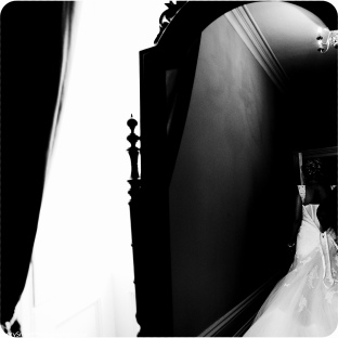 bride in the mirror