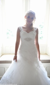 happy bride before the ceremony