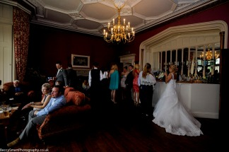 guests and bride relaxing