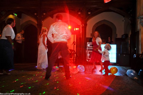 wedding disco in full swing